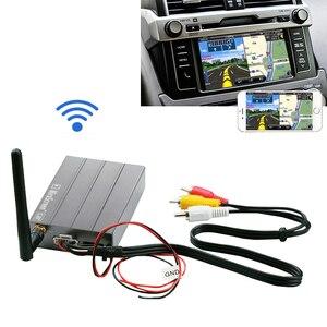 Image 1 - Auto Draadloze Wifi Display Dongle Hdmi Video Adapter Auto Gps Navigatie Scherm Mirroring Doos Voor Iphone Xs Xr 6 7 8 Android Telefoon