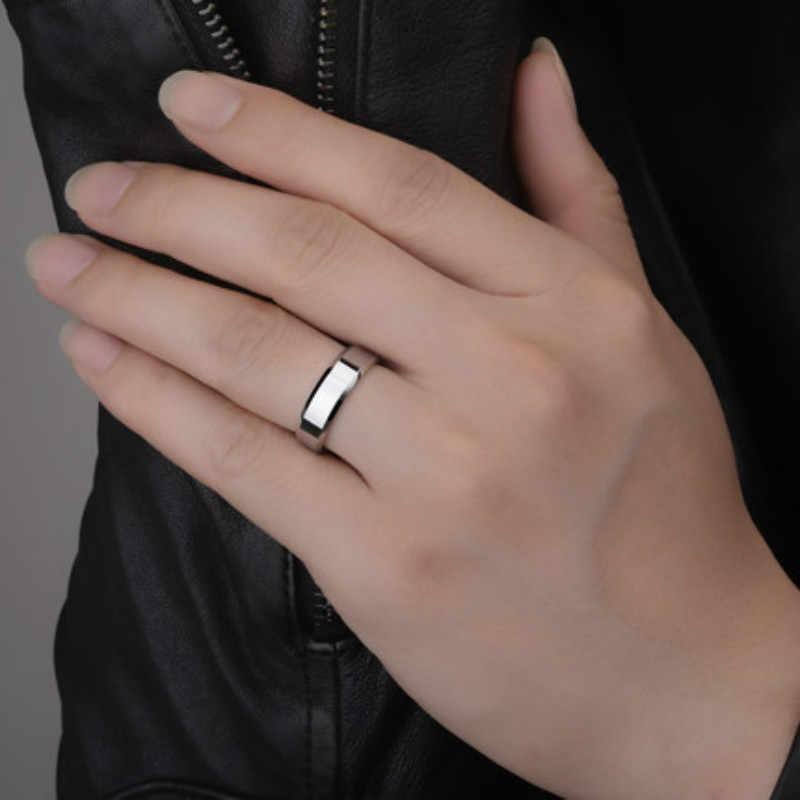 11.11 ビッグプロモーショングラマーチタンリングゴールド抗アレルギー滑らかなシンプルな結婚式のカップルリング宝石類男性または女性ギフト