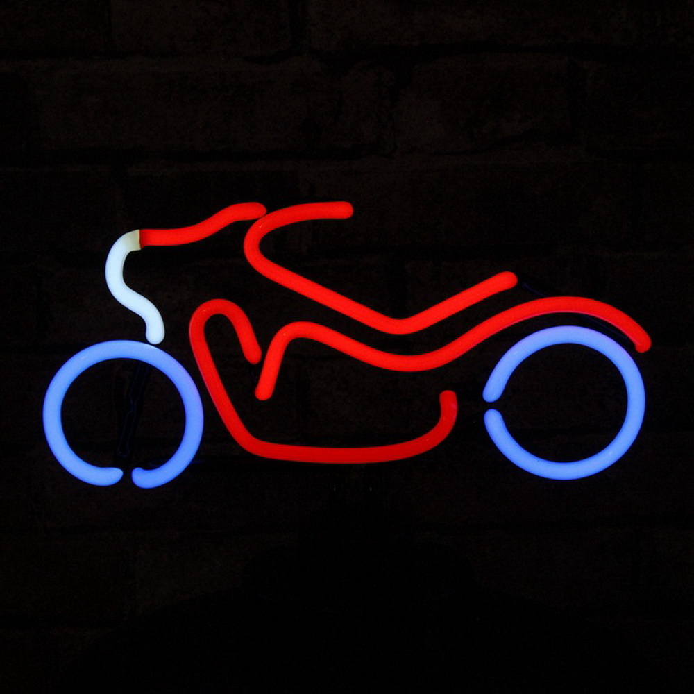 Custom Handmade Neon Sign Design Motorcycle Different Logo Led Neon Table Light For Boutique Car Sales Shop Mall And Rooms