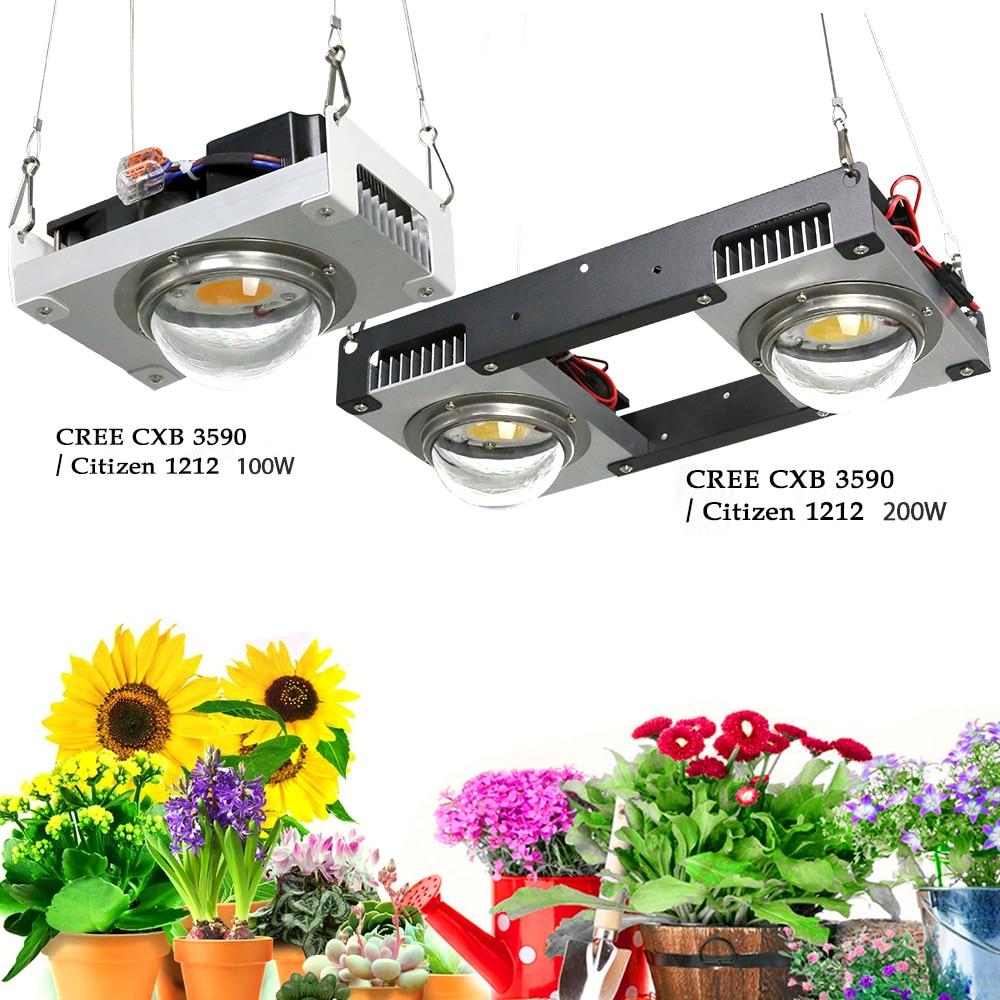 CREE CXB3590 COB LED Grow Light Full Spectrum 100W 200W Citizen 1212 & CXB3070 Plant Grow Lamp Indoor Tent Greenhouse Hydroponic