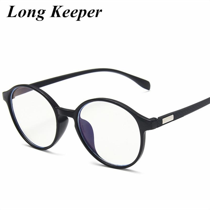 Fashion Women Glasses Frame Men Vintage Round Eyeglasses Frame Clear Lens Glasses Simple Black Optical Spectacles Frame
