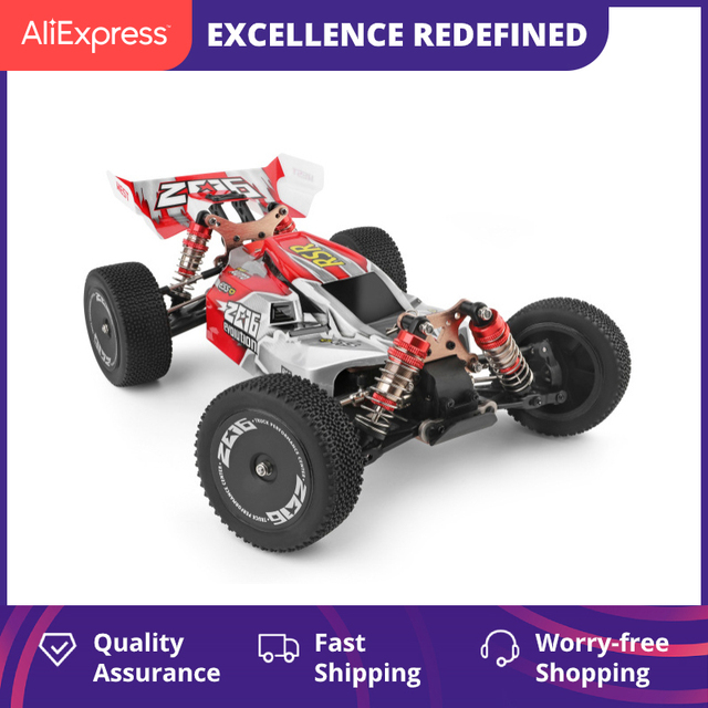 WLtoys 144001 2.4G Racing RC Car Competition 60 km/h Metal Chassis 4wd Electric RC Formula Car Remote Control Toys for Children 1