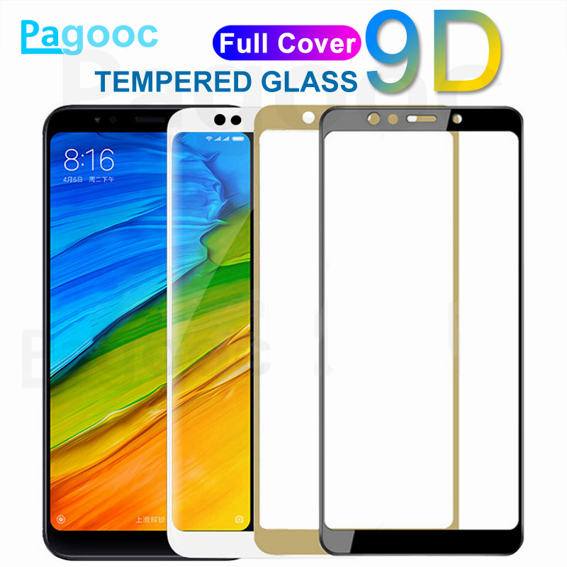 9D Protective Glass On The For Xiaomi Redmi 4A 4X 5A 5 Plus S2 Redmi Note 4 4X 5 5A Pro Tempered Glass Screen Protector Film
