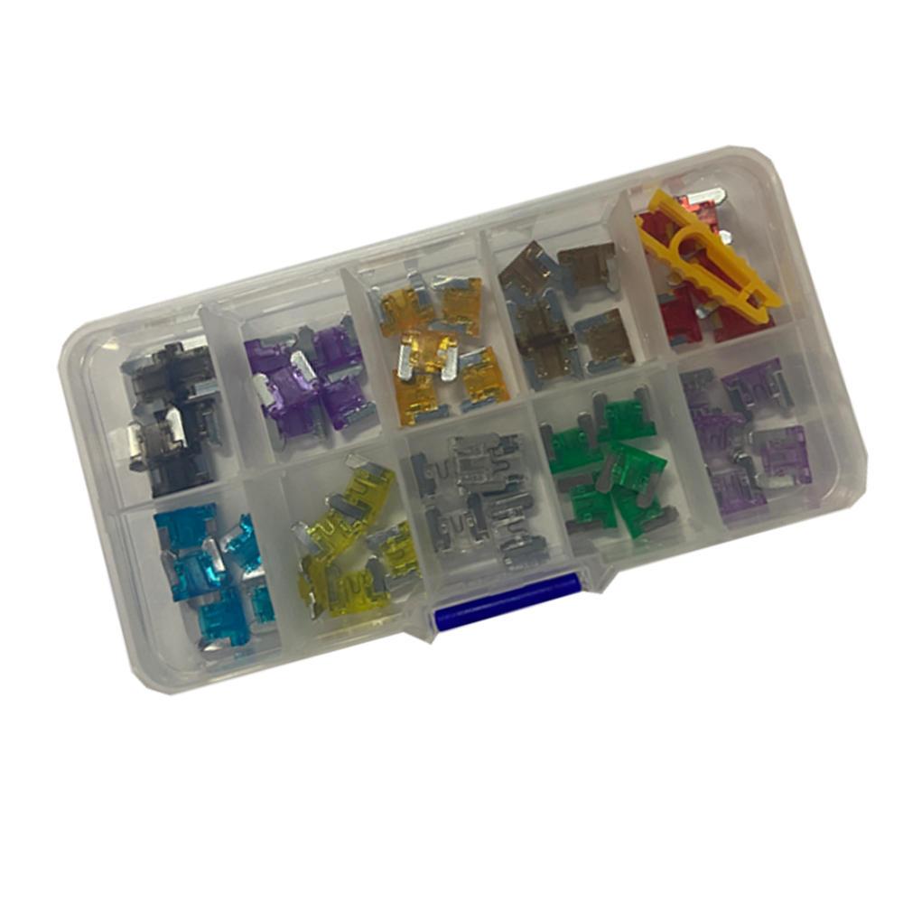 Mini Fuse-Set Micro-Blade Clip-Assortment Auto 2A 10A 5A 30A with Box Type Truck 50pcs/Box