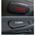 Для Renault Fluence  1 шт.  углеродное волокно  кожа  авто подушка для ног  наколенник  Автомобильный Дверной рычаг  накладка на руку  автомобильные а...