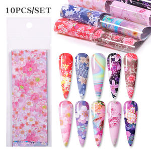 Stickers Decal-Sliders Nail-Foil Flower-Transfer Butterfly Designs Mix