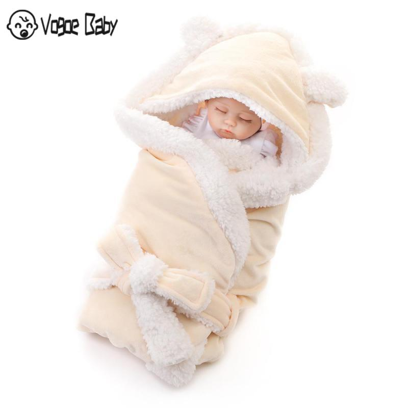 Winter Baby Blanket Wrap Double Layer Fleece Baby Swaddle Sleeping Bag For Newborns Baby Boys Girls Bedding Blanket 7479