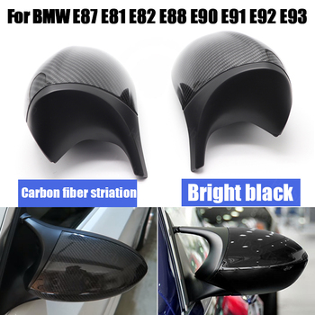 2004-2009 M3 M Style Rearview Replacement Carbon Fiber Pattern Mirror Cover for BMW 1 3 Series E81 E82 E87 E88 E90 E91 E92 E93 image