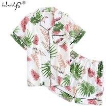 Women Pajamas Cotton Pajamas Heart Stripe Print Short Sleeve Pajamas Sets Women Harajuku Pajamas Cute Cartoon Pyjama Pijama
