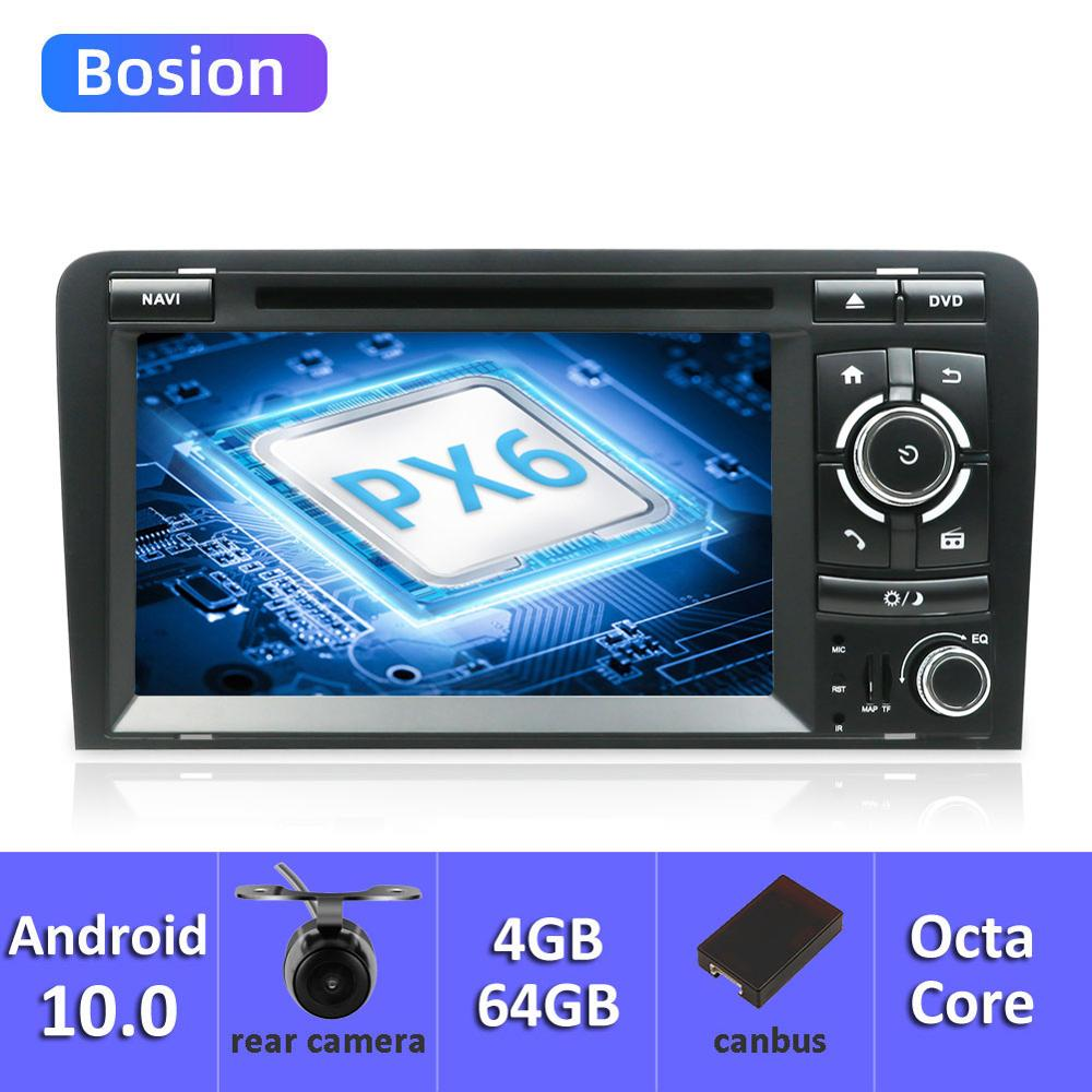 Bosion 7 zoll HD 2 Din Android 10,0 PX6 Auto Radio Stereo DVD Player Multimedia <font><b>Navigation</b></font> GPS Für <font><b>Audi</b></font> <font><b>A3</b></font> <font><b>8P</b></font> 2003-2011 4G + 64G image