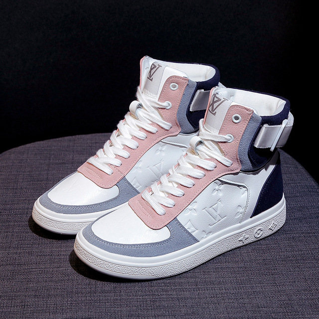 High top sneakers for women street  hip hop leather sports shoes 5