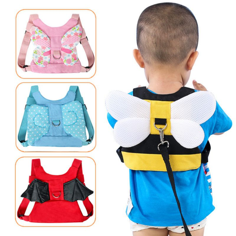 Cotton Walking Safety Adjustable Harnesses Belt Cute Cartoon Pattern Animals Shape With Wing Strap Leashes New Belt