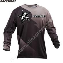 цена на RACESTARS Moto Men's Downhill Jersey MTB Mountain Bike Clothes DH MX Motorcycle Off Road clothing motocross Racing Sports Wear