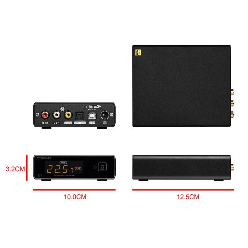 TOPPING E30 DAC AK4493 XU208 32bit/768k DSD512 opération tactile avec télécommande décodeur haute résolution - 5