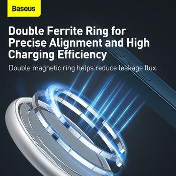 Baseus 2 в 1 магнитное беспроводное зарядное устройство 20 Вт 4