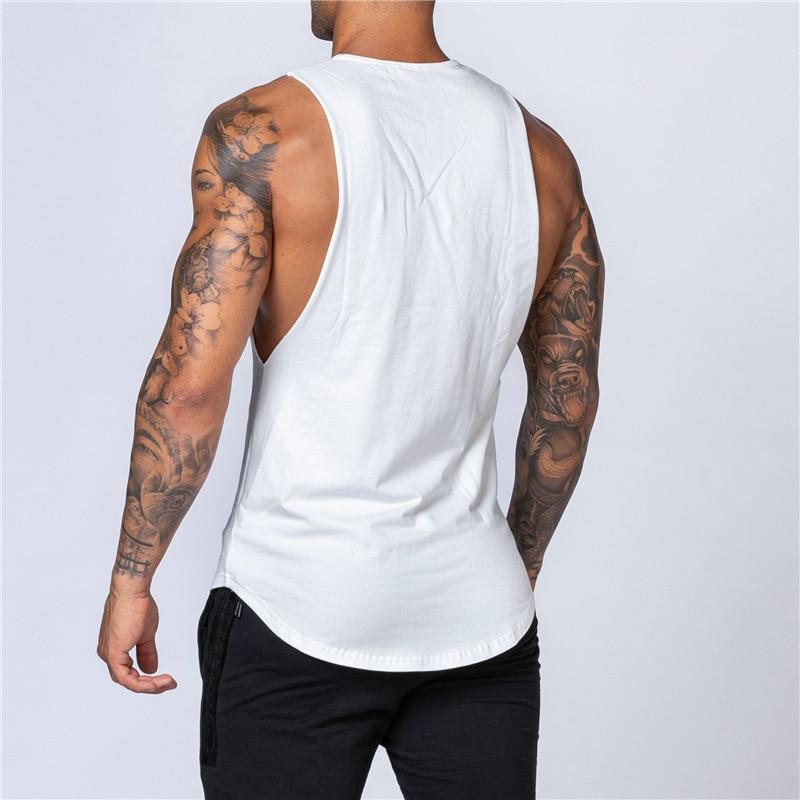 Fitness Singlets Sleeveless Workout Tank Top Men Gym Clothing  1
