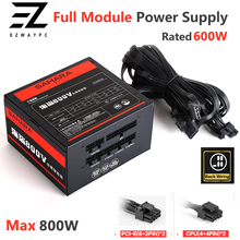 PC Gaming Power Supply Full Module PSU Rated 600W Max 800W 24PIN 12V ATX Computer Bitcoin Miner  ETH Coin Mining Ethereum