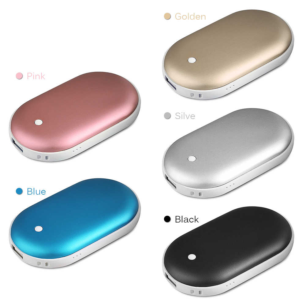 USB נטענת חשמלי יד חם 5200mAh 5V חמוד דו צדדי יד חם נייד לחורף קר