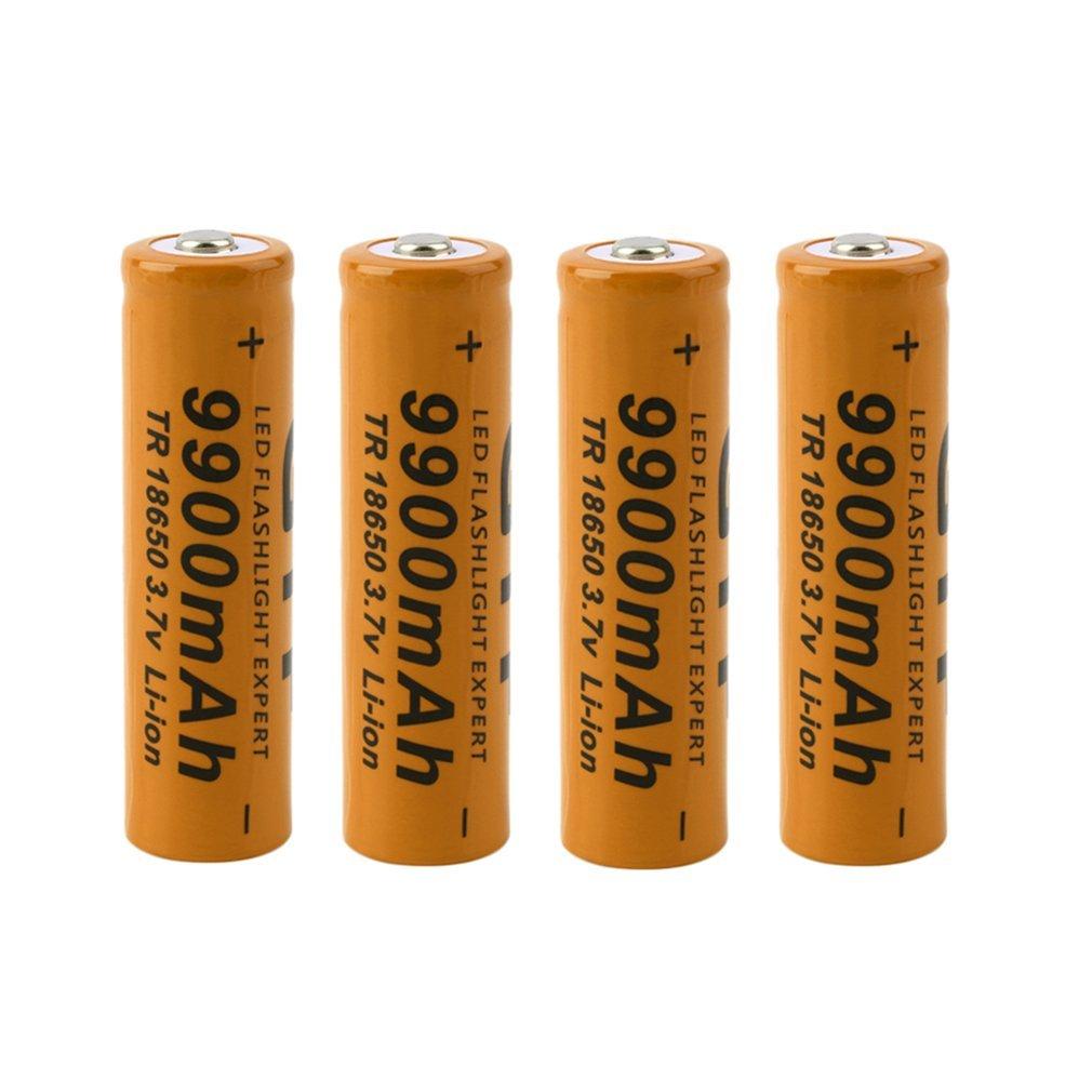 4pcs 18650 Battery 18650 Li-ion Batteries 18650 3.7V 9900mAh 9800mAh Rechargeable Li-ion Battery For LED Bateria Dropshipping