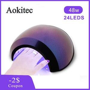 48 Вт/36 Вт Сушилка для ногтей Светодиодная УФ лампа Гель-лак для отверждения 3 таймера УФ лампа с умным датчиком лампа для маникюра дома инстр...