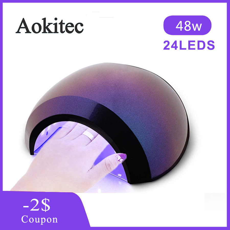 48W/36W Nail Dryer Led UV Lamp Gel Polish Curing 3 Timer UV Lamp With Smart Sensor Lamp For Manicure Home Nail Art Tools Aokite