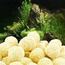 40 sztuk biologiczna piłka akwarium akcesoria do akwarium filtry piłka czyszczenie Bio Ball akwarium ceramika poryzowana wkład filtracyjny torba z siateczką