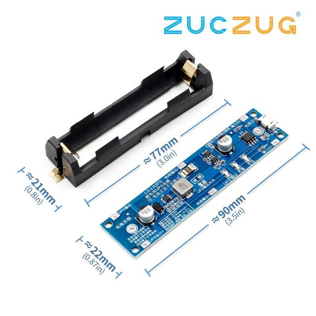 5V/12V 18650 Lithium Battery Boost Step Up Module Charge Discharge the Same Time UPS Protection Board Charger Circuit Li ion