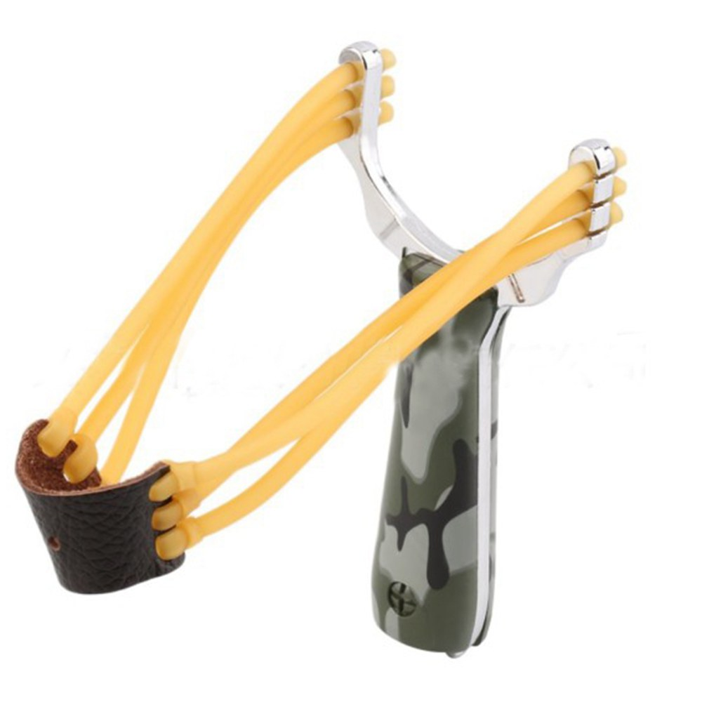 Outdoor Camouflage Hunting Slingshot Velocity Elastic Slingshot Rubber Band For Catapult Hunting Camping EDC Outdoor Tools