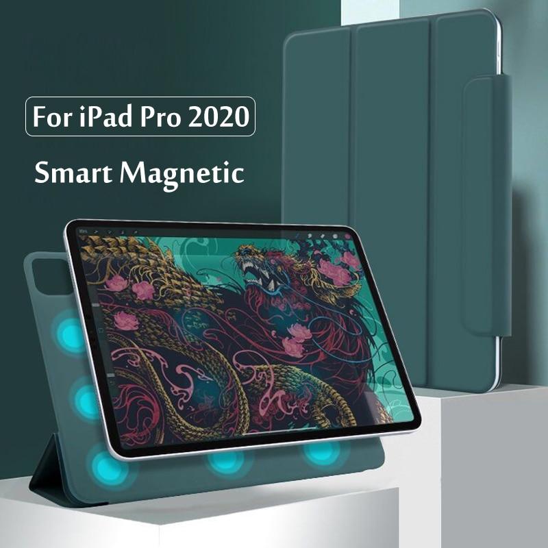 Чехол для iPad Pro 12,9 4-го поколения 2020, защитный Магнитный смарт-чехол для iPad Pro 11 2020 2-го поколения, чехол с держателем для карандашей