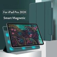 Para ipad pro 12.9 4th geração 2020 caso seguro magnético inteligente caso para ipad pro 11 2020 2th gen capa com suporte de lápis
