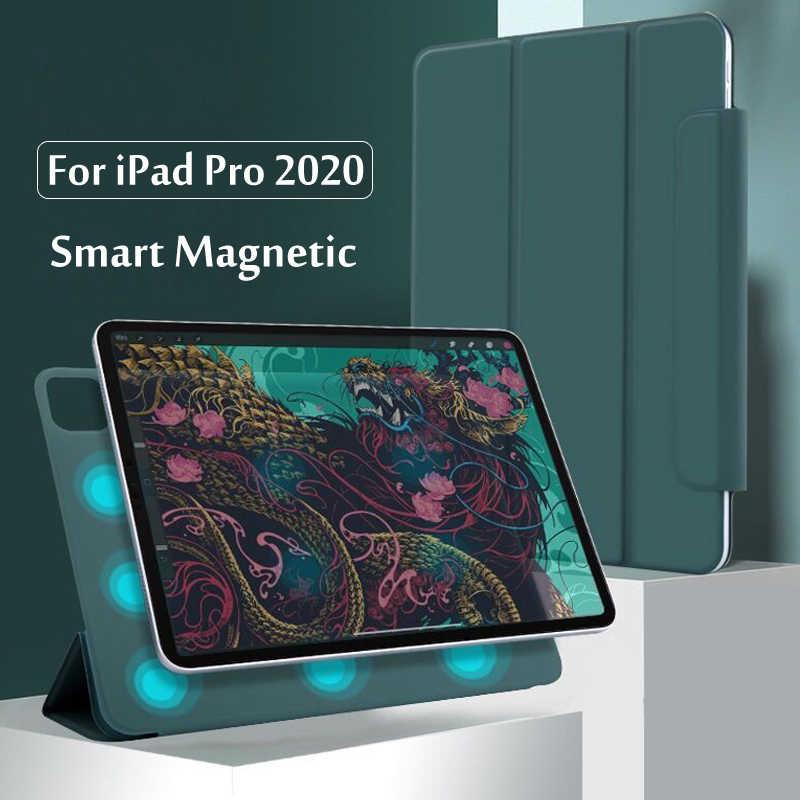 IPad Pro 12.9 için 4th nesil 2020 kılıfı güvenli manyetik akıllı kılıf iPad Pro için 11 2020 2th Gen kapak kalem tutucu ile