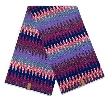Hot sale African Wax Fabric 100%Cotton high quaity 6yards/piece dutch wax dye printed fabrics for dress,wedding dress V-L 714