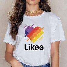 Harajuku Likee Female Tshirt Heart Print Short Sleeve Tops & Tees Fashion Casual