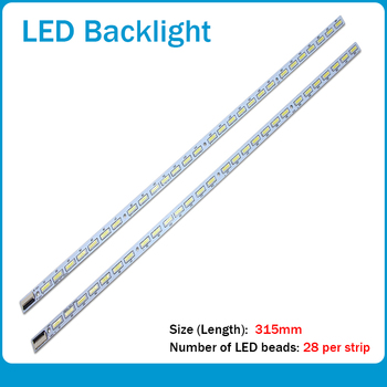 цена на 2Pieces/lot 100%NEW FOR Original skyworth 50E6CRD article lamp V500HK1-LS5 V500H1-LS5-TREM4 TLEM4 1PCS=28LED 315MM