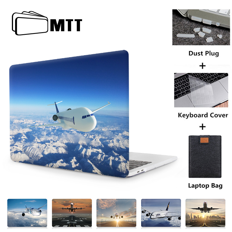 MTT Airplane Laptop Sleeve For Macbook Air Pro Retina 11 12 13 15 16 inch Touch Bar Cover for Macbook Pro 13.3 A1989 A1706 A1932 image