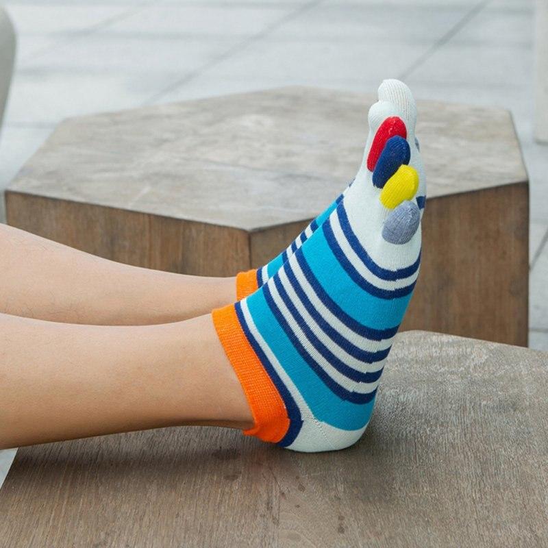 1 Pairs/lots Summer Men Socks Boys Cotton Finger Breathable Five Toe Socks Pure Sock Ideal For Five 5 Finger Toe Shoes