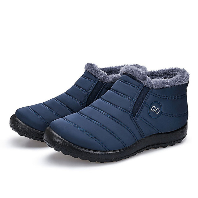 Women snow boots new waterproof winter boots solid casual shoes 3