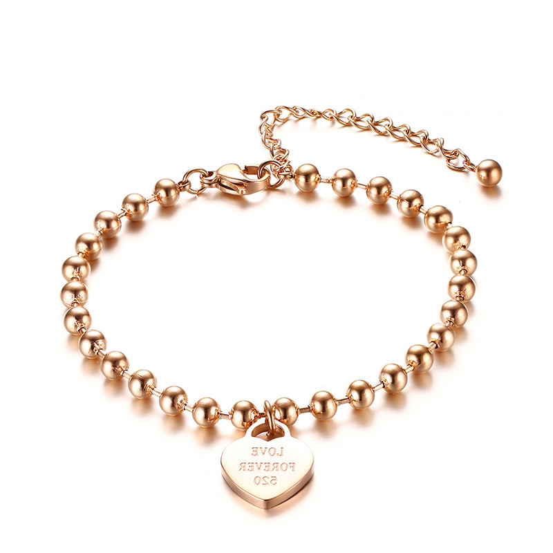 gift women/'s jewel stainless steel musket clasp engraved sheet gold finish chain small links Minimalist bracelet