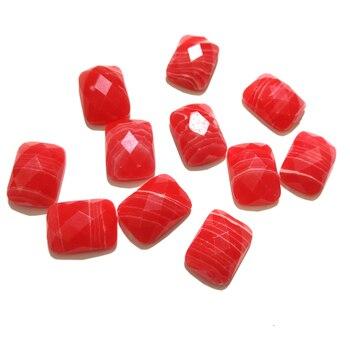 10 Uds. Superficie de la sección piedras naturales piedra Rodocrosita cabujón sin agujero cuentas para hacer joyas DIY accesorios cuentas sueltas
