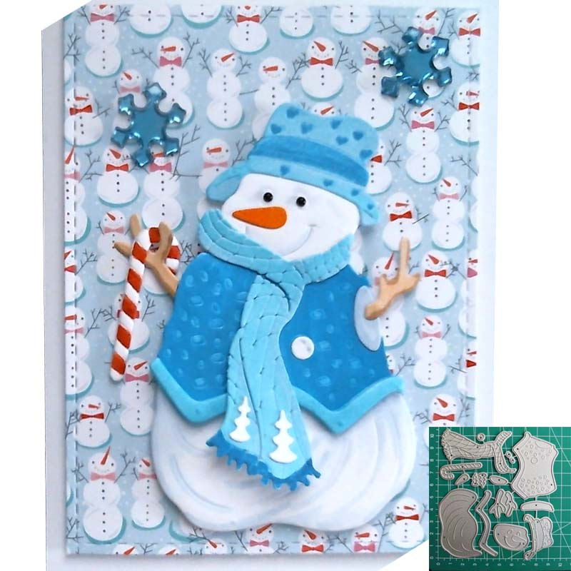 Image 2 - Snowman Christmas Cutting Dies 2019 Vintage Scrapbook Album-in Cutting Dies from Home & Garden