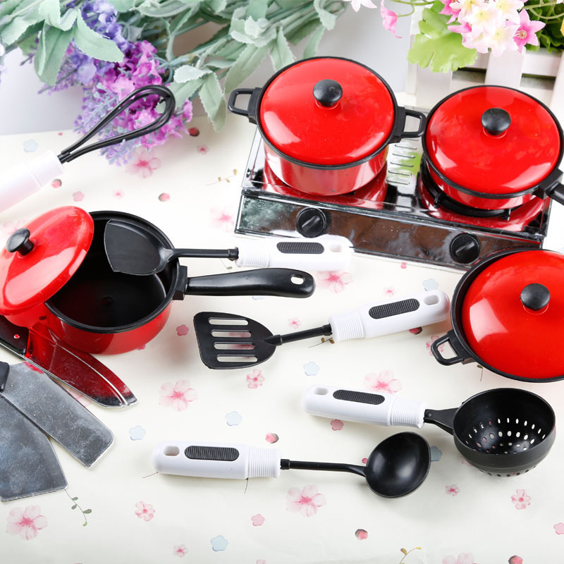 Toddler Toy Dishes Utensils Cookware House Kitchen Pans Food Cooking Play Baby Girls Pots Kids Pretend Play  Girls Toys