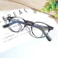 Retro vintage óculos quadro óptico ov5186 oval óculos quadro gregory peck decoração espetáculo miopia quadro oculos de grau