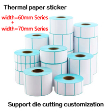 Paper-Stickers Accept Self-Adhesive Thermal-Labels Blank 60-70mm Custom-Order Heat-Sensitive