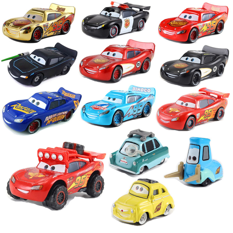 Disney Pixar Cars 3 The New Lightning McQueen Jackson Storm Ramirez Mater 1:55 Diecast Metal Alloy Model Car Toy Kids Gift