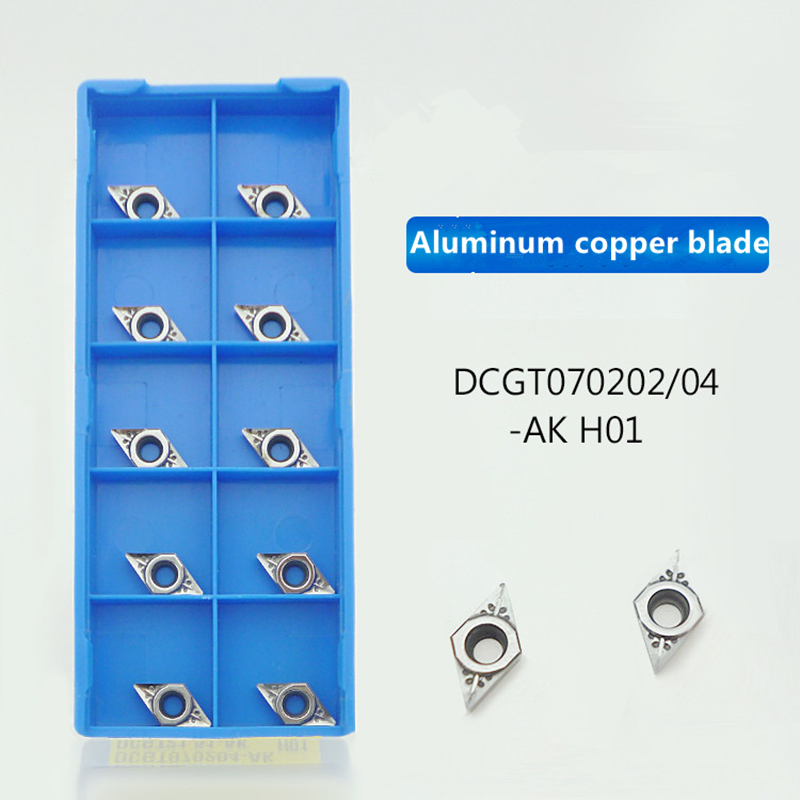 DCGT070204 AK H01 DCGT 070204 Aluminum Cutter Blade Insert Cutting Tool Turning Tool CNC Tools AL +TIN Alloy Wood