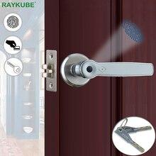 Fechadura de segurança biométrica smart RAYKUBE, tranca eletrônica sem chave para porta com placa IC 13,56Mhz para casa e escritório R S158