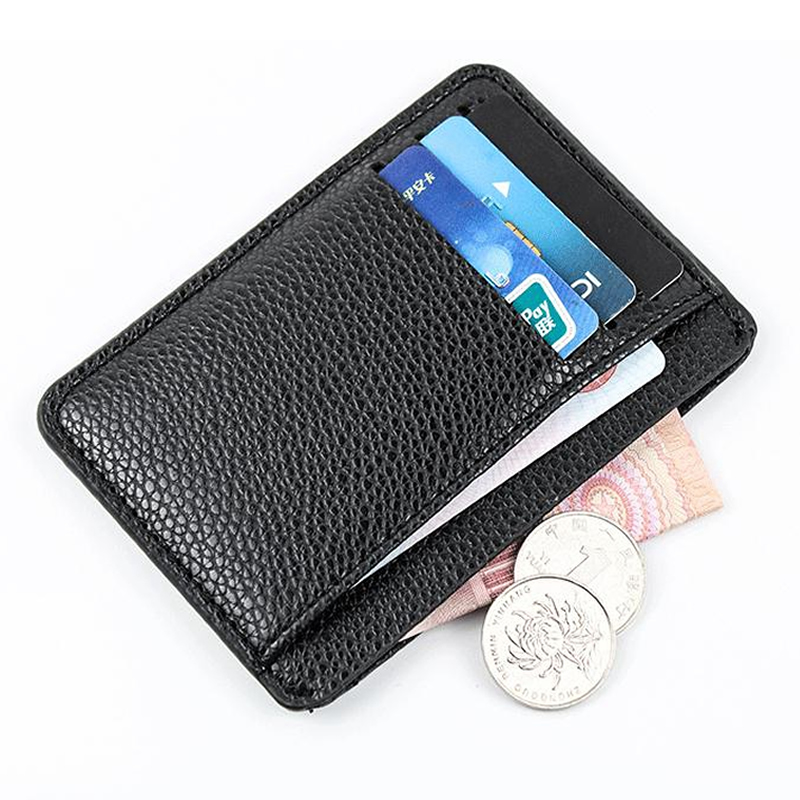 Rfid Classic Men Wallet Mini PU Leather Business Card Holder Case Women Bank Credit ID Card Passport Covers Small Purse Case Bag