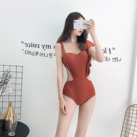 Swimsuit Women Summer 2019 Woman One Piece Swimsuits Solid Suspension Sexy Covering Underwire Holds Beach Paisley Polyester