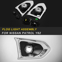 Front Rear Fog Lights Assembly LED Light Replacement Exterior Parts for Nissan Patrol Y62 2pcs Auto Car styling