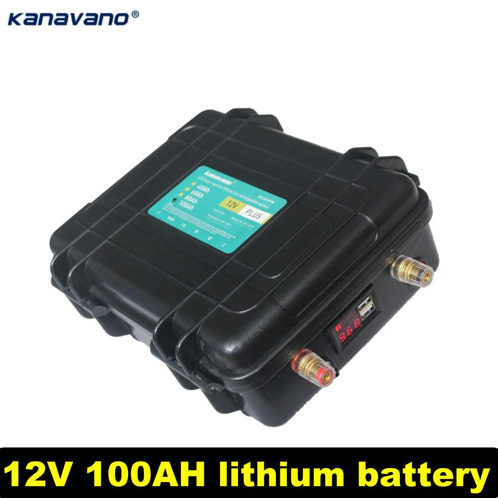 12V100AH lithium <font><b>battery</b></font> pack rechargeable <font><b>battery</b></font> high-capacity binding posts are used for ships and starting <font><b>cars</b></font> send charger image